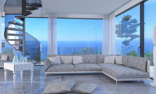 thema sofa and window